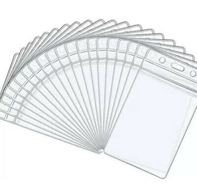 £1.95 • Buy 5x Clear Vertical Waterproof Plastic ID Card Bus Pass Holders 65mmX90mm UKSell