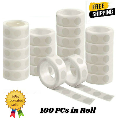 £2.25 • Buy 100 Adhesive Dots Tape Double Sided Glue Sticky Sticker DIY Balloon Clear Decor