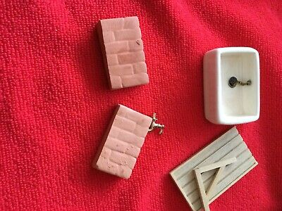 £7.50 • Buy Dolls House Furniture Ceramic Belfast Sink With Plug And Chain,stand,tap,drainer
