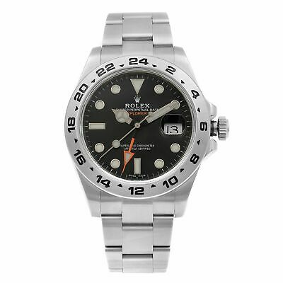 $ CDN13502.08 • Buy Rolex Explorer II GMT Stainless Steel Black Dial Automatic Mens Watch 216570