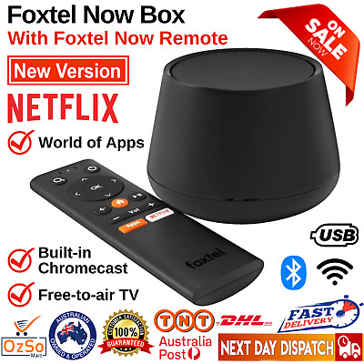 AU67.77 • Buy Foxtel Now Box Built-in Chromecast Ultra 4k Fta Tv Tuner Android Apps Usb Remote