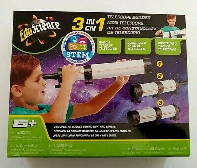£14.14 • Buy NEW Edu Science 3-in-1 Telescope Builder Ages 6+ New In Box