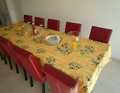 £30.32 • Buy Tablecloth Non-Iron 150x350 CM Olives Yellow France Provence Easy-Care