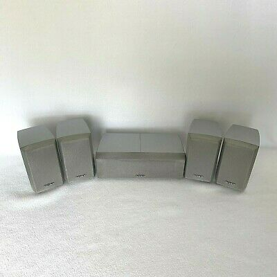 £30 • Buy 5 Sony Silver Satellites (4) SS-MSP2 & Center (1) SS-CNP2 Speakers Home Stereo