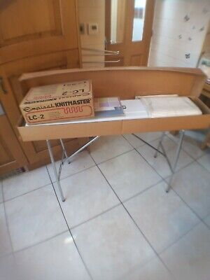 £350 • Buy Knitmaster 700 With Table, Books, Wool, Cotton, Lace Carriage And Yarn Winder.