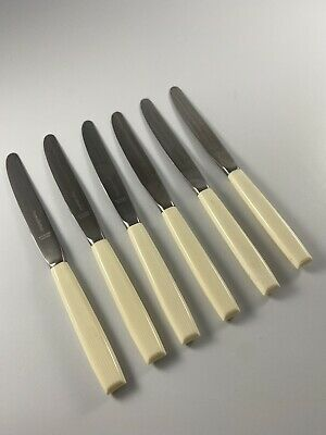 £7.95 • Buy 6 X Vintage Viners Of Sheffield Knives And No Fork With Faux Bone Handles