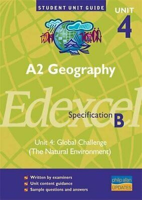£3.59 • Buy A2 Geography Edexcel (B) Unit 4: Global Challenge (The... By Warn, Sue Paperback