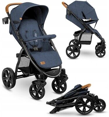 View Details BABY STROLLER KIDS BUGGY PUSHCHAIR WITH FOOT COVER ANNET LIONELO Blue Denim • 129.99£