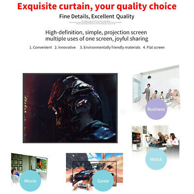 AU14.41 • Buy Projector Screen With Stand 100 Inch Indoor Outdoor Movie Projection Screen 16:9