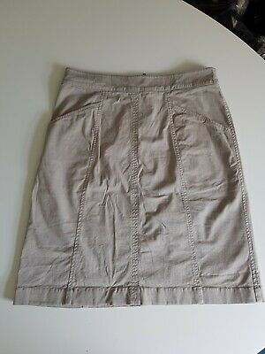 £10 • Buy Boden Chino Skirt Size 8 Long Stone Neutral