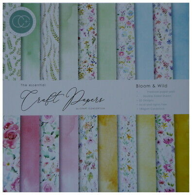 £8.99 • Buy Craft Consortium 12 X 12  Scrapbooking Paper BLOOM & WILD 30 Double-sided Sheets