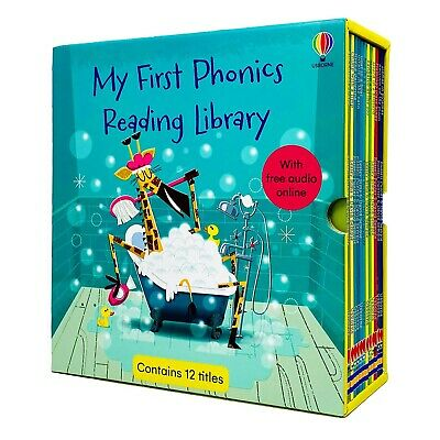 £19.99 • Buy Usborne First Phonics Reading Library 12 Books Collection Box Set Phonics Reader