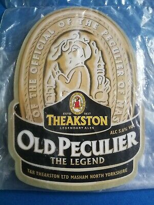 £4.99 • Buy THEAKSTON Brewery OLD PECULIER Real Ale Beer NEW Pump Clip Badge Yorkshire