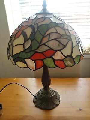 £30 • Buy Elegant Tiffany Style Table Lamp Stained Glass Bedside Desk Light