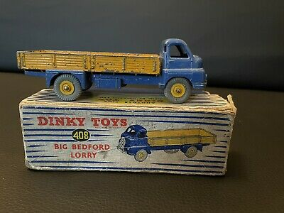£30 • Buy Dinky Toy 408 Big Bedford Lorry Blue/yellow Boxed