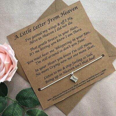 £3.50 • Buy Letter From Heaven Wings Angel Thinking Of You Card Condolence Gift Bereavement