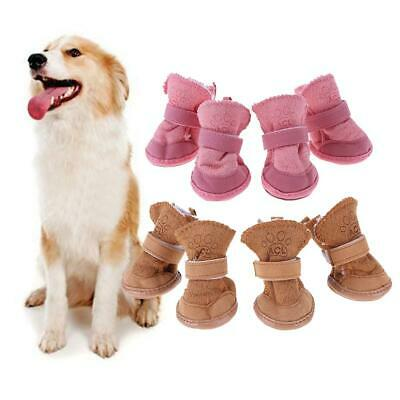 £5.10 • Buy Pet Puppy Thick Snow Boots Dog Plush Winter Warm Shoes Dog Accessories