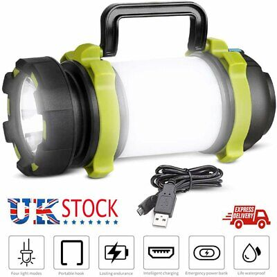 £14.89 • Buy LED Camping Light USB Rechargeable Tent Light Emergency Powerful Phone Charger