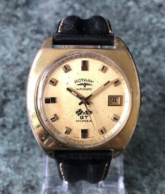 £25 • Buy Vintage 1960s ROTARY GT MONZA Automatic Gold Plated Watch, Fully Working