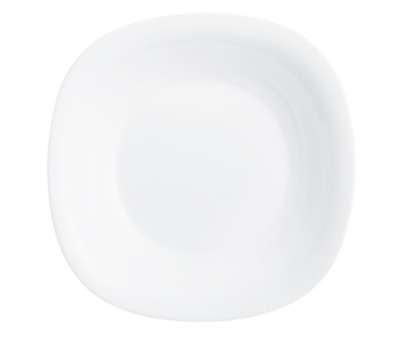 £5.95 • Buy Luminarc Carine 21cm Opal Glass Deep Food Soup Square Plate Table Dining Server