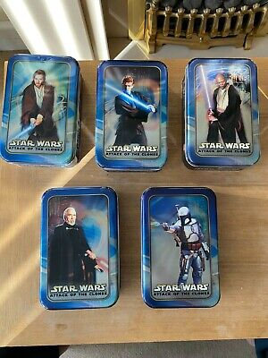 £60 • Buy Star Wars Attack Of The Clones Special Edition Metal Boxes Lot X 5 SET TOPPS