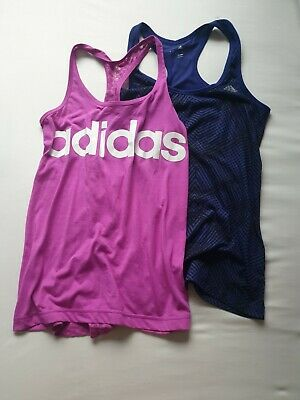 £8.50 • Buy Adidas Womens Climalite Tank Top Pink Blue Size S Uk 8 10