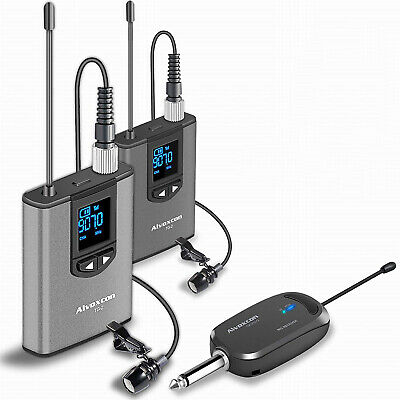 £49.62 • Buy Wireless Headset Lavalier Microphone System Alvoxcon Dual Lapel Mic Vlog YouTube