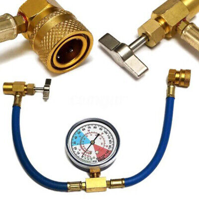 £10.99 • Buy Car Vehicle Air Conditioning Refrigerant Recharge Kit A/C R134a Hose Gas Gauge