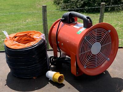 £125 • Buy Explosion Proof 110v 8  200mm Commercial Air Mover Fume Extractor Fan & 7m Duct