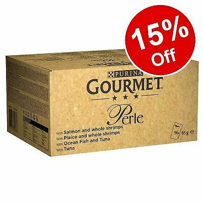 £39.99 • Buy Gourmet Perle Wet Cat Food Fish Selection In Gravy Mega Pack Pouches 96 X 85g