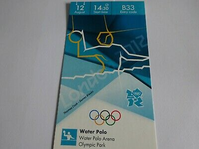 £9.99 • Buy London 2012 Olympic Games WATER POLO Ticket 12th AUG MEN'S GOLD MEDAL MATCH!