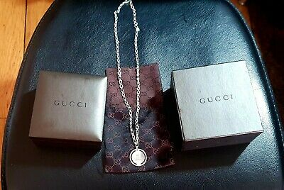 £100 • Buy Genuine Gucci Sterling Silver Necklace & Pendant In Original Box. Excellent £275