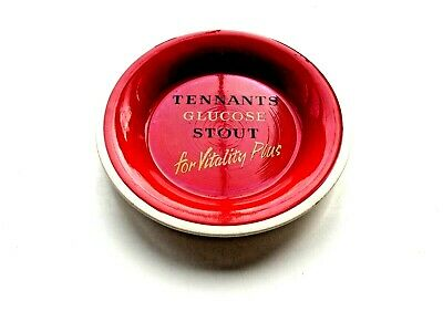 £3.49 • Buy Tennants Glucose Stout Ashtray Red/black/white Made By Wade Regicor