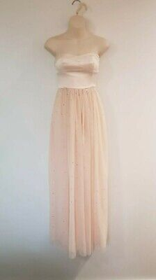 AU29 • Buy Forever New Lined Strapless Sequin Formal Dress - Size 6 Naked Peach