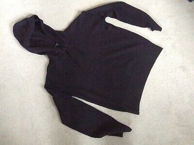 £12 • Buy COS Navy Boiled Wool Hooded Jumper Size XS