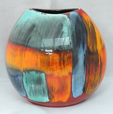 £100 • Buy Large Poole Pottery Purse Vase In Delphis Series - 20cm Tall