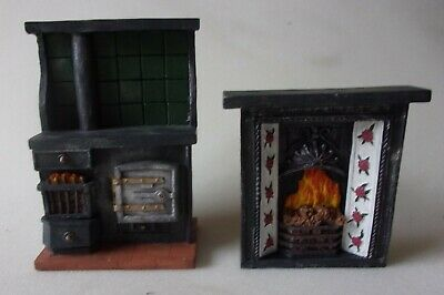 £10 • Buy 12th Scale Dolls House Resin Cooker And Fireplace