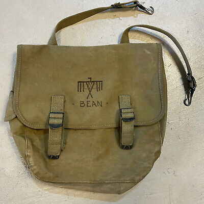 $55 • Buy 1943 Date STENCILED WWII US M1936 Khaki Musset Bag