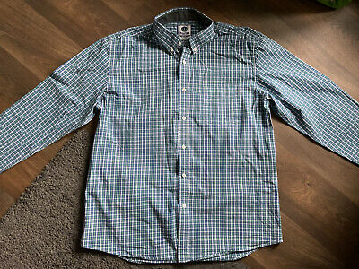 £4 • Buy Charles Wilson Mens Blue/Green/White Check Shirt Size XL Worn Once