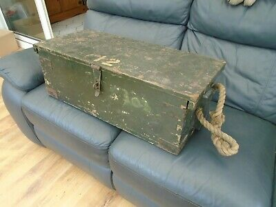 £14.99 • Buy Large Vintage Military Wooden Shipping Trunk Tool Box Chest Storage Upcycling
