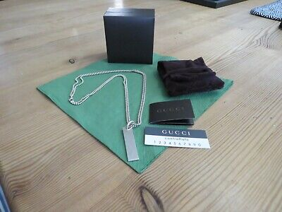 £90 • Buy Genuine GUCCI Ladies Plate Double Chain Necklace, With Box & Pouch.