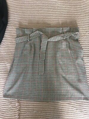 £2 • Buy Paper Bag Style Chequered Skirt. New Look. Size 14