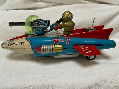 £990 • Buy Nomura Interplanetary Space Fighter Battery Operated Japan 60s, Tin Toy Boxed