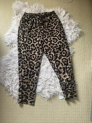 £1 • Buy Leopard Print Trousers Pretty Little Thing