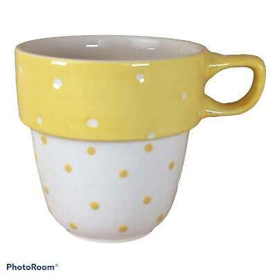 £9.99 • Buy M&S Yellow & White Spotty Spots Stacking Stackable Mug Spare Replacement