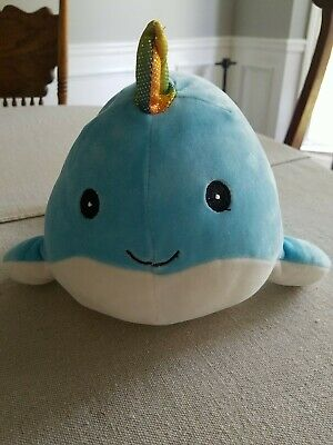 """$ CDN20.64 • Buy Squishmallows Blue Narwhal Horned Kellytoy Whale 12"""""""