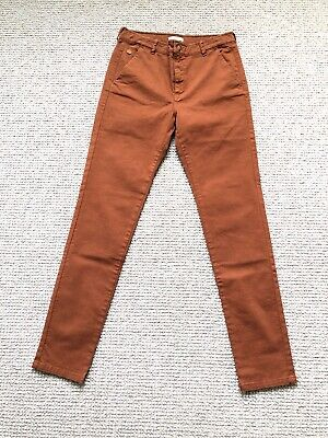 £11.99 • Buy 'Hundred Pieces' French Designer Boys Chinos 14Y, Brown/terracotta. BNWT