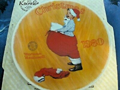 $ CDN14.62 • Buy Collectible Norman Rockwell Plate 18046  Scotty Plays Santa  With Box & COA