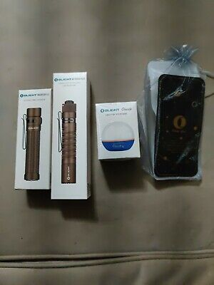 $115 • Buy Olight Warrior Mini AND M1T Plus Raider Dt Desert Tan AND Blue O Bulb And Caps