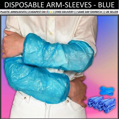£6.99 • Buy Disposable Plastic Arm Sleeves Covers Protective Waterproof Oversleeves Claning
